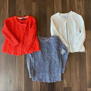 Lot of 3 toddler sweaters